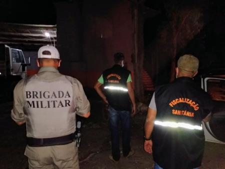 Fiscalização Sanitária e BM realizam ações de combate a pandemia