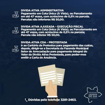 Aberto prazo para pagamento de Dívida Ativa no município