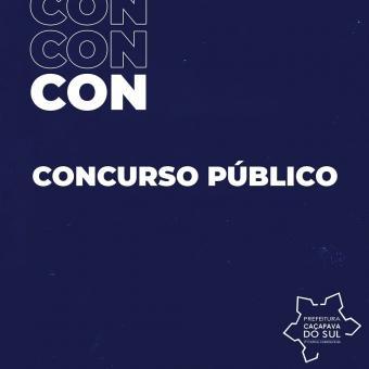 Publicados editais do Prosseguimento do Concurso Público de Caçapava do Sul