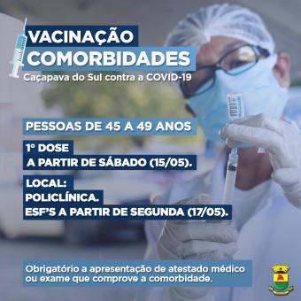 Vacinação pessoas com comorbidades