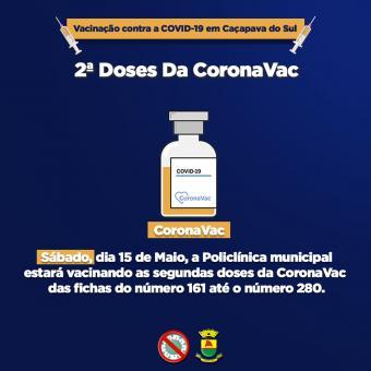 Segundas doses da CoronaVac