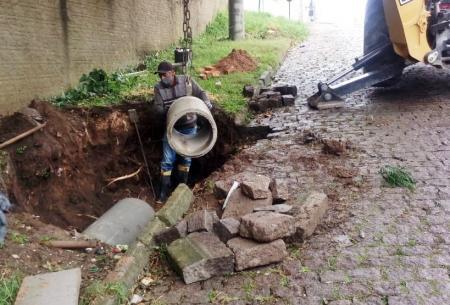 OBRAS em AÇÃO – Serviço de saneamento básico no município