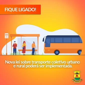 Nova lei sobre transporte coletivo urbano e rural poderá ser implementada