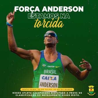 Amanhã Caçapava e todo o Brasil corre junto com você, Anderson Henriques 🏃🏾