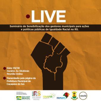 Caçapava promove evento online Estadual de Promoção de Igualdade Racial na próxima segunda (09)