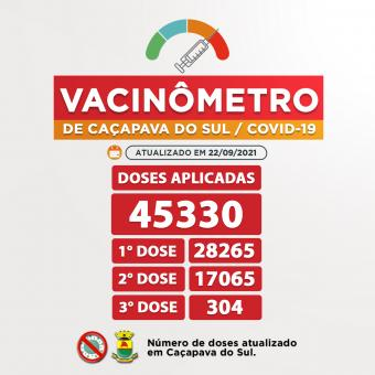 Vacinômetro de Caçapava do Sul