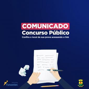 Confira o local das provas para as pessoas inscritas no Concurso Público
