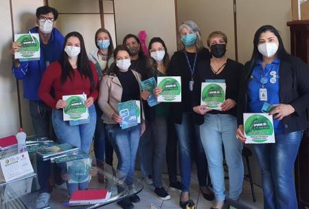 A Secretaria Municipal de Saúde, recebeu os Conselheiros Reginais - Coren RS